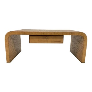 Mid-Century Modern Style Mark Sikes for Henredon Bamboo/Rattan Cocktail Table For Sale