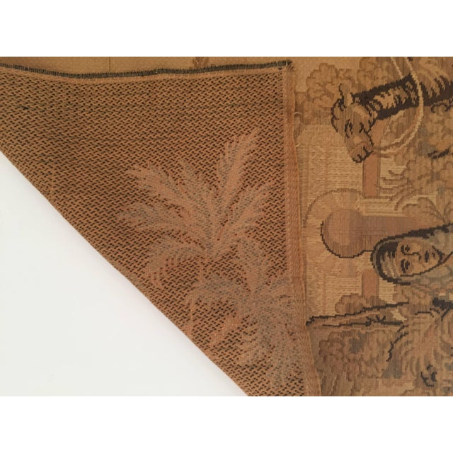 Tan Tapestry With an 19th Century Orientalist Scene and Moorish Architecture For Sale - Image 8 of 10