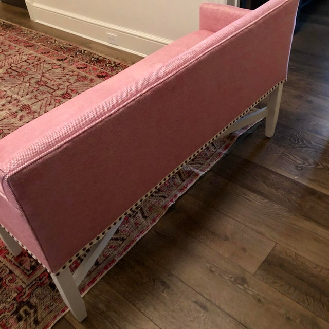 Pink Upholstered Oomph Tini X Bench For Sale In Washington DC - Image 6 of 13