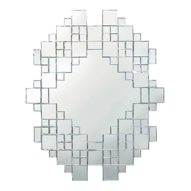 Cubist 1970s Mirror For Sale