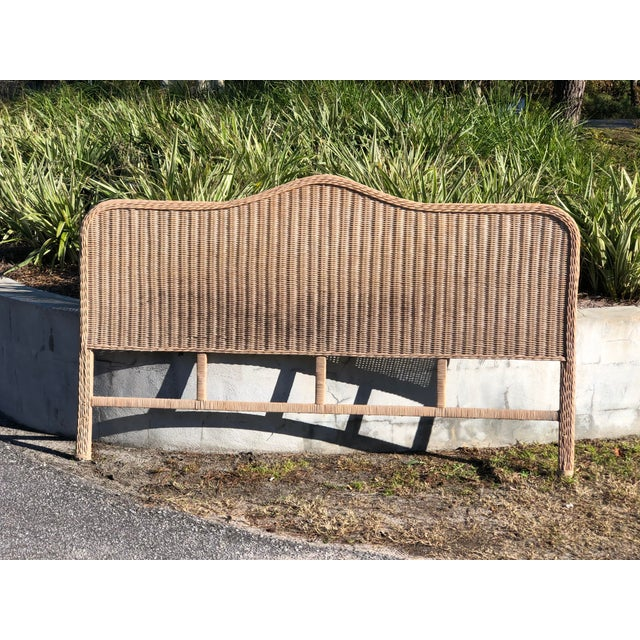 Vintage Rattan King Headboard For Sale - Image 9 of 9