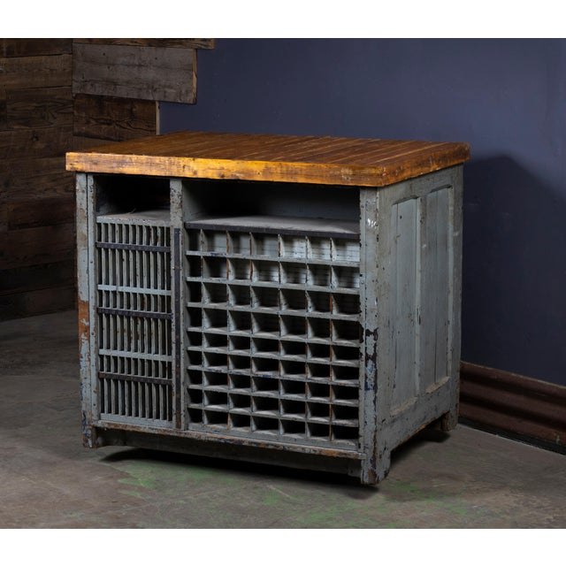1920s 1920s Industrial Hamilton Flat File Printers Cabinet For Sale - Image 5 of 11