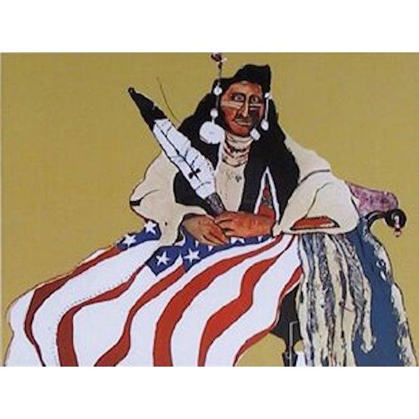 """Fritz Scholder, """"Bicentennial Indian,"""" Lithograph - Image 2 of 2"""