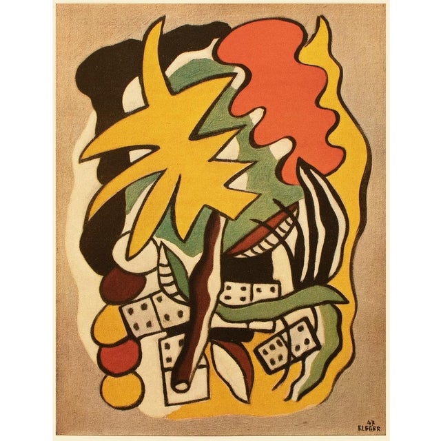 """1948 Fernand Léger """"Dominoes Composition"""", First Edition Period Parisian Lithograph For Sale"""