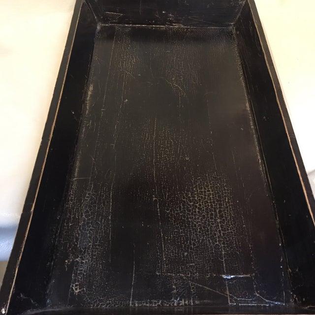 Elm Black Elm Asian Tray For Sale - Image 7 of 10