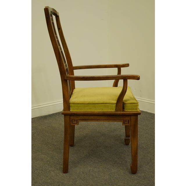 Green Century Furniture Asian Inspired Chinoiserie Dining Arm Chair For Sale - Image 8 of 10