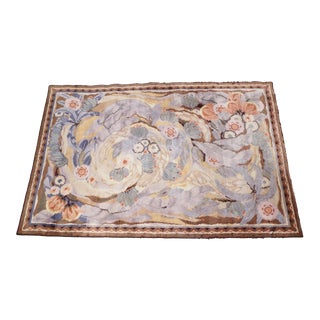 Maurice Dufrene for La Maitrise Art Deco Rug 1922 For Sale