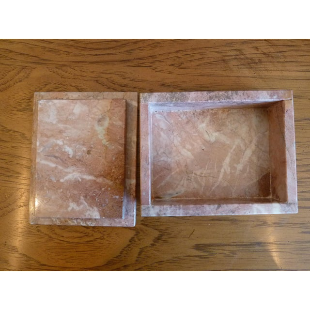 Pink Marble Box For Sale In Chicago - Image 6 of 9