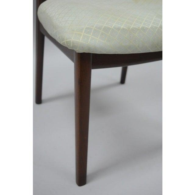 Vintage Dyrlund Mid Century Danish Modern Teak Dark Wood Dining Side Chair For Sale - Image 5 of 11