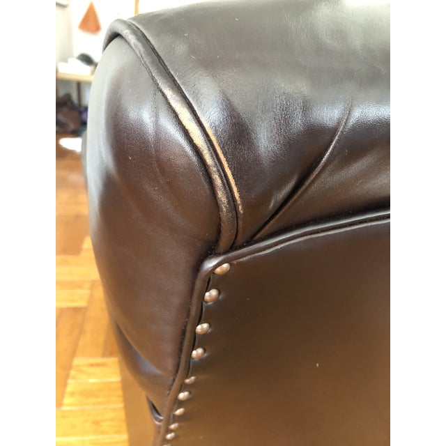 Brown George Smith Standard Arm Signature Chair in Leather For Sale - Image 8 of 10
