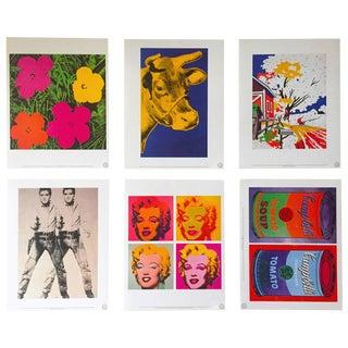 "Andy Warhol Estate Rare 1989 "" Pop Art Portfolio "" Collector's Lithograph Prints - Set of 6 For Sale"