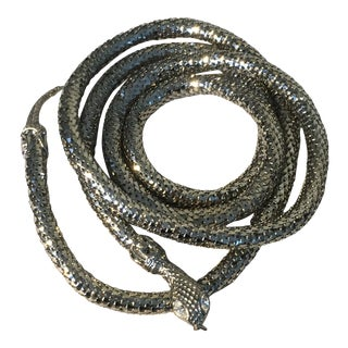 Mid Century Mesh Snake Belt / Necklace For Sale