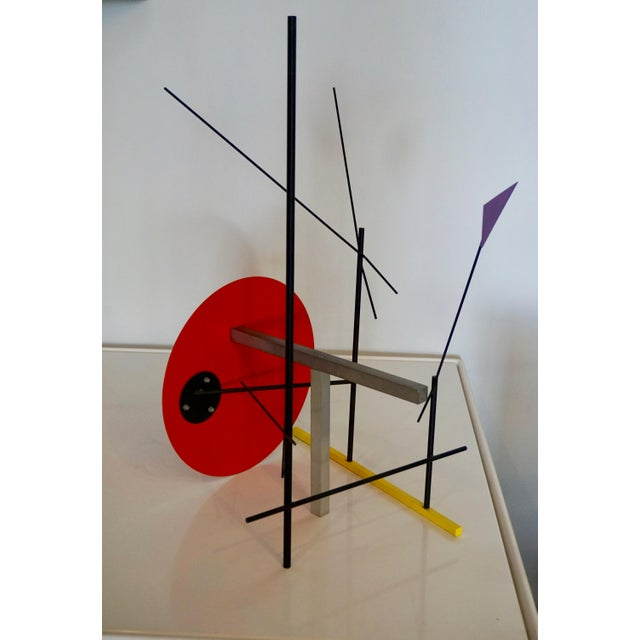 Peter Shire Memphis Style Abstract Sculpture by Peter Shire For Sale - Image 4 of 6
