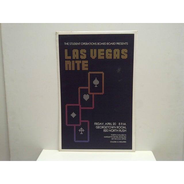 "This is a vintage poster -- ""Las Vegas Nite"" -- Gambling Event -- Circa 1980"
