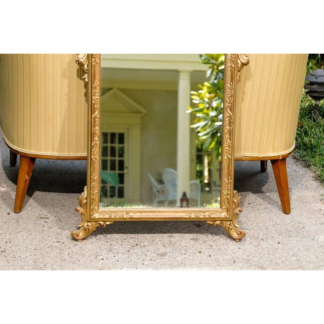 Italian Hand-Carved Rococo Gilt Mirror For Sale - Image 5 of 6