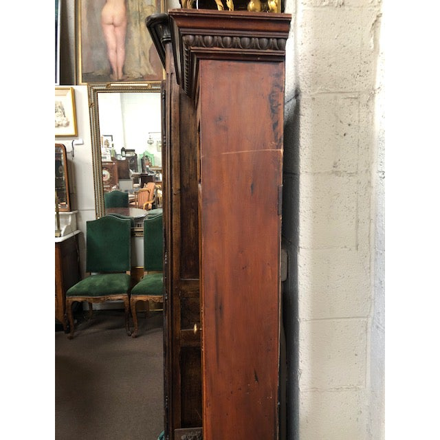 Art Nouveau Antique Perfume Cabinet with Stained & Leaded Glass Top For Sale - Image 3 of 7