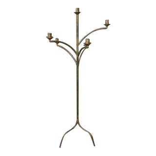 Large Five Arm Candelabra Floor Lamp For Sale