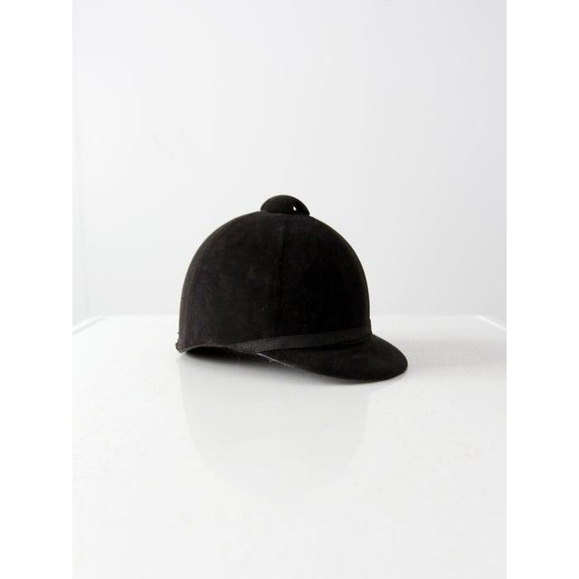Textile Vintage Equestrian Hat For Sale - Image 7 of 8