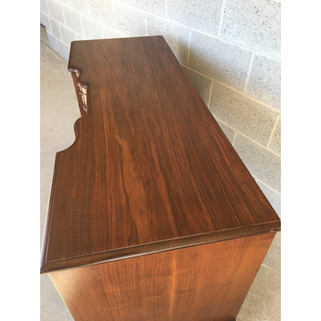 Brown John Stuart Louie XV Style Solid Walnut Vanity For Sale - Image 8 of 13