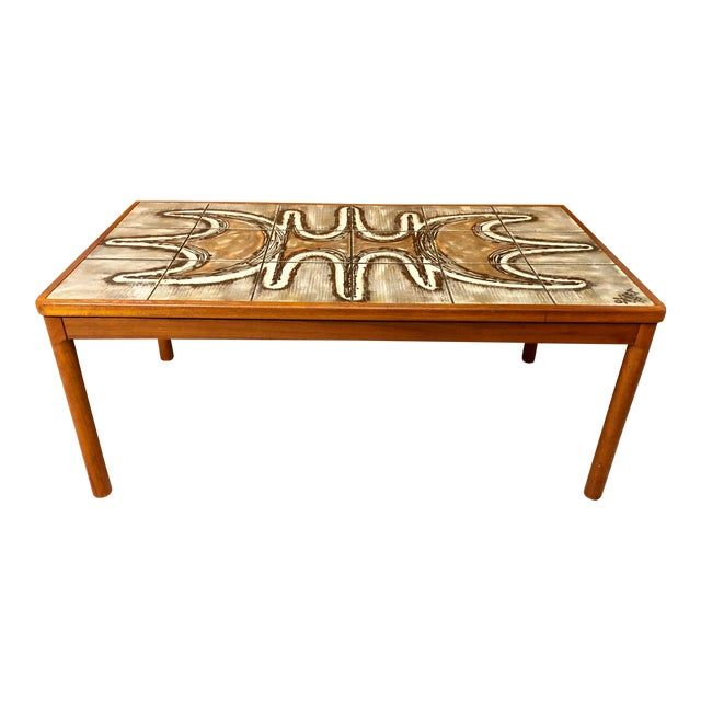 1977 Danish Modern Trioh Ox Art Coffee Table For Sale