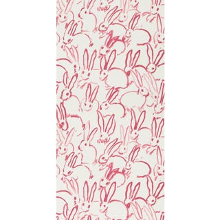 Hunt Slonem for Lee Jofa, Hutch Wallpaper Roll, Ivory/Pink, 10 Yards For Sale