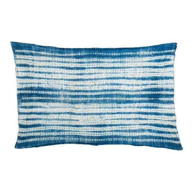 Vintage Batik Blue Throw - Image 1 of 5