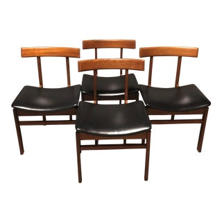Mid-Century Modern France & Son Dining Chairs - Set of 4 For Sale