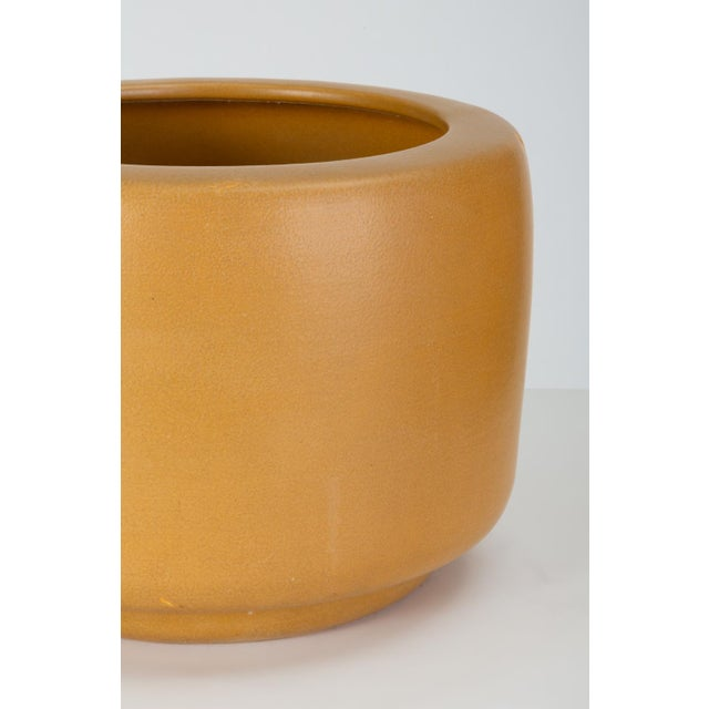 Ceramic Cp-13 Tire Planter in Yellow Glaze by John Follis for Architectural Pottery For Sale - Image 7 of 10