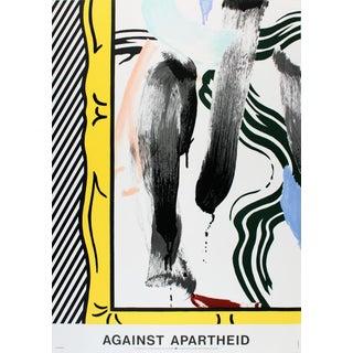 1983 Against Apartheid Poster by Roy Lichtenstein