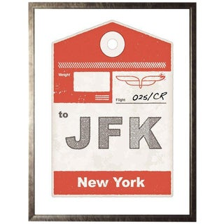 "Jfk Travel Ticket - 13.5"" X 17.5"" For Sale"