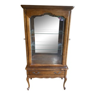 1970s Vintage Louis XVI Country French Display Cabinet For Sale