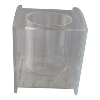 """Vintage Signed """"Morgan"""" Lucite Ice Bucket For Sale"""