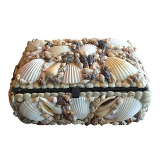 Vintage Shell Encrusted Box For Sale