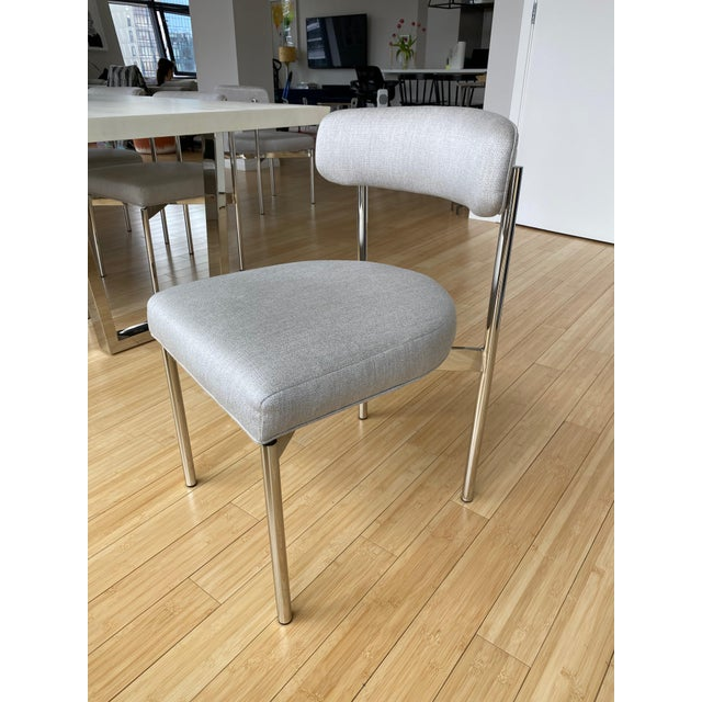 Modern White Kimora Mitchell Gold Bob Williams Dining Table & Chairs - Set of 7 For Sale - Image 9 of 13