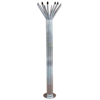 Mid-Century Chrome Tubular Floor Lamp by Kovacs For Sale