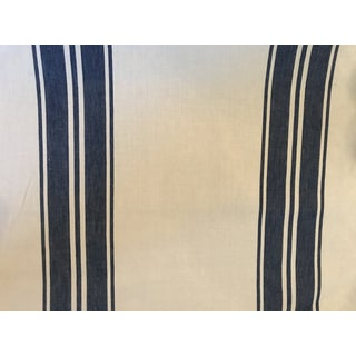 Schumacher Brentwood Striped Fabric 6 1/2 Continuous Yards For Sale
