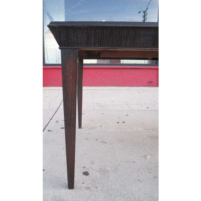 Paul Frankl Vintage Amber Cerused Dining Table - Image 5 of 7