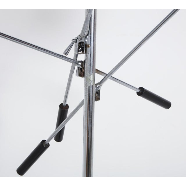Mid-Century Modern White and Chrome Floor Lamp With Three Heads For Sale - Image 3 of 13