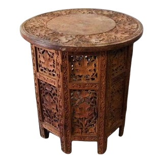 Vintage Turkish Folding Middle Eastern Accent Table For Sale