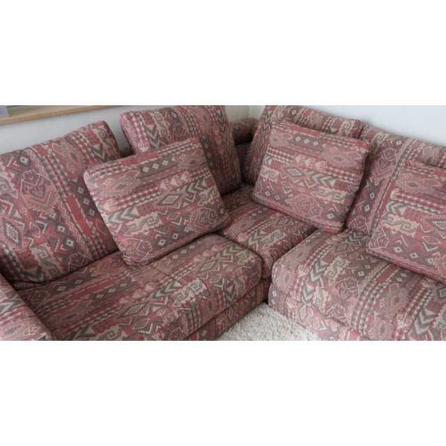 "Boho Chic 1990s Vintage Roche Bobois ""Entre'Act"" Sectional Sofa- 5 Pieces For Sale - Image 3 of 8"