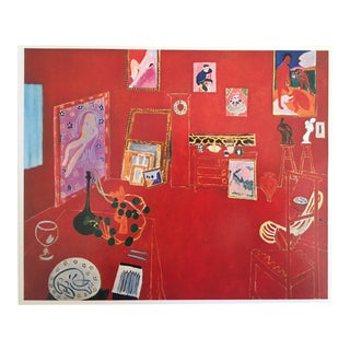 1973 The Red Studio L' Atelier Panneau Rouge Lithograph - Henri Matisse