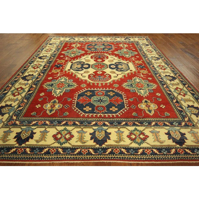 Traditional Super Kazak Rug Red- 8' x 11' - Image 3 of 11