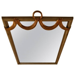 Gilt Swag Ring Mirror For Sale
