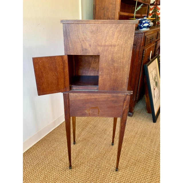 French Wood Phone Cabinet For Sale - Image 10 of 11