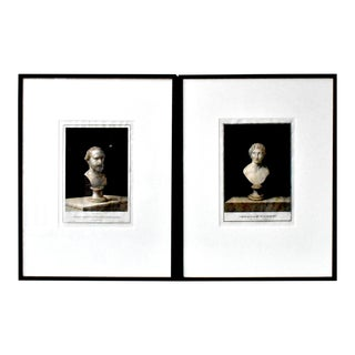 Antique Greek Bust Sculpture Engravings by Nicolas Vanni - a Pair For Sale