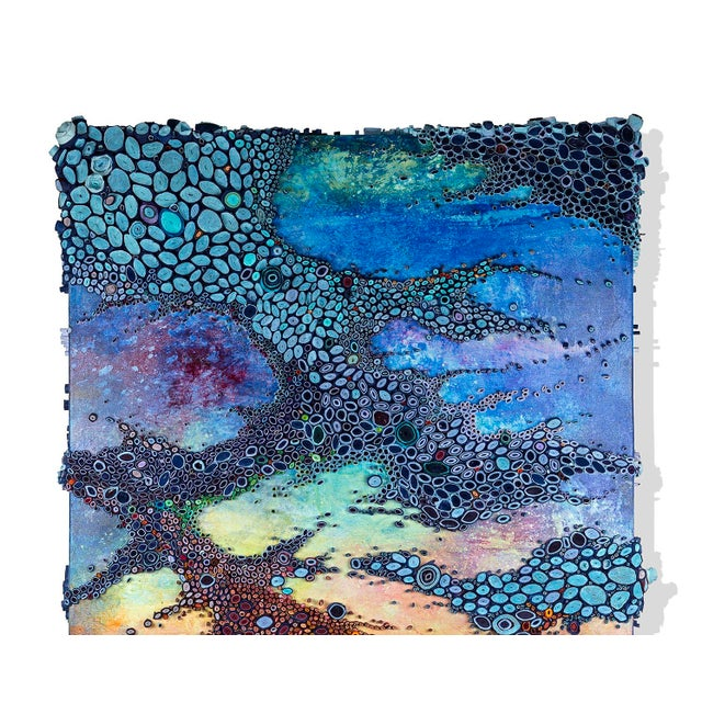Mixed Media artist Amy Genser makes colorful dimensional paper collages. These colorful, textural, one-of-a-kind wall...