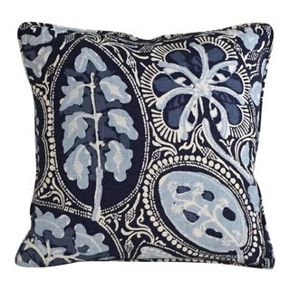 Thibaut Cochin Navy Self Welt Pillow Cover For Sale