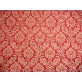 Kravet Couture Laurie Damask Garnet Gold Floral Upholstery Fabric- 10-7/8 Yards For Sale