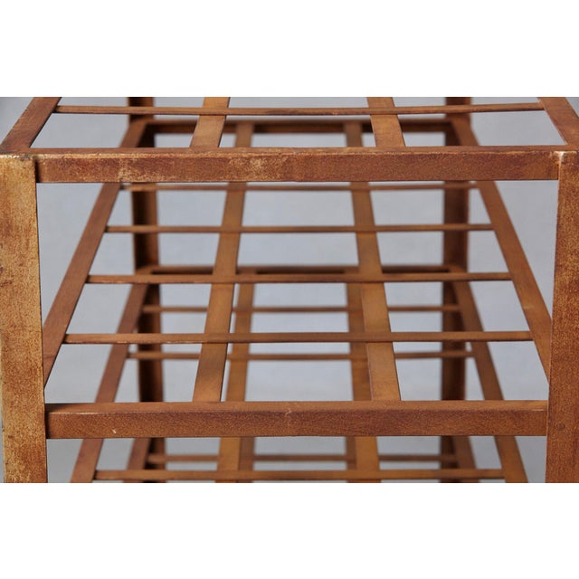 Iron Industrial 5 Tier Shelf With Grid Shelves for Books or Usage as Seedling Planter For Sale - Image 7 of 11