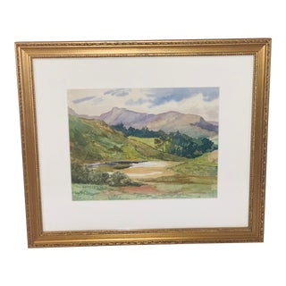 "Custom ""Mountain View"" Watercolor Painting For Sale"